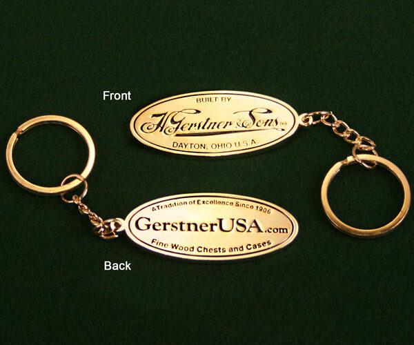 Brass Logo Key Chain
